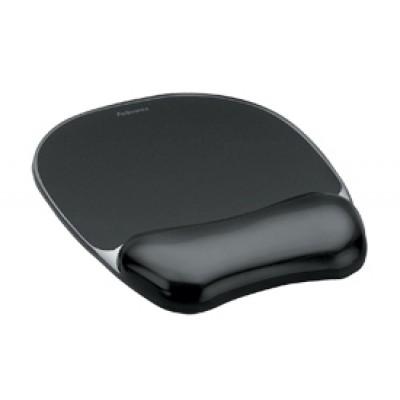 Mouse Pad-Wrist Rest Fellowes Crystal Gel Black ΑΞΕΣΟΥΑΡ
