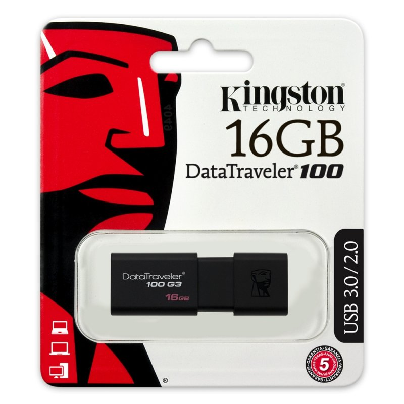 Memory USB Kingston Data Travel 100 3.0 16GB ΜΝΗΜΕΣ USB
