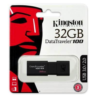 Memory USB Kingston Data Travel 100 3.0 32GB ΜΝΗΜΕΣ USB