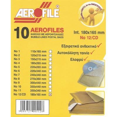 Φάκελος 180x165mm Ενισχυμένος No12/CD Φάκελοι Ενισχυμένοι με Φυσαλίδες