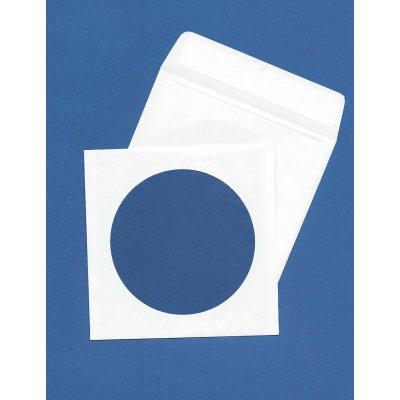 Φάκελος Λευκός 12x12cm CD Αυτοκόλλητος με παράθυρο Φάκελοι Απλοί