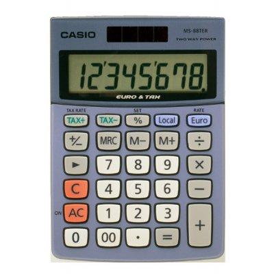 Αριθμομηχανή Casio MS-88TER 8 Digit display Αριθμομηχανές 8 ψηφίων Dimex.gr-Αναλώσιμα Υπολογιστών,Γραφική ύλη,Μηχανές Γραφείου