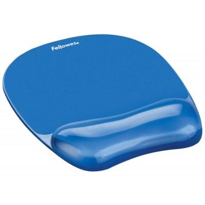 Mouse Pad-Wrist Rest Fellowes Crystal Gel Blue ΑΞΕΣΟΥΑΡ