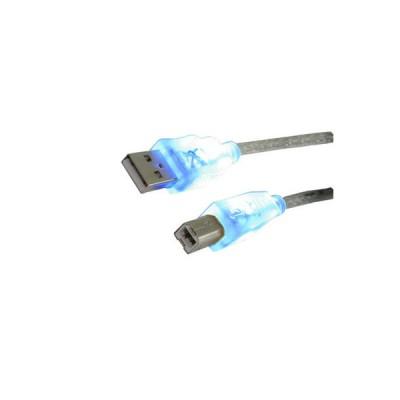 Καλώδιο MediaRange USB 2.0 AM/BM 1.8M with Blue LEDs Καλώδια USB Dimex.gr-Αναλώσιμα Υπολογιστών,Γραφική ύλη,Μηχανές Γραφείου