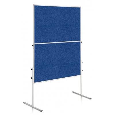 Εκθετήριο Αναδιπλούμενο Legamaster Economy 120x150 Διπλής Όψεως Μπλε 207100 Τροχήλατα Εκθετήρια (Διπλής Όψης)