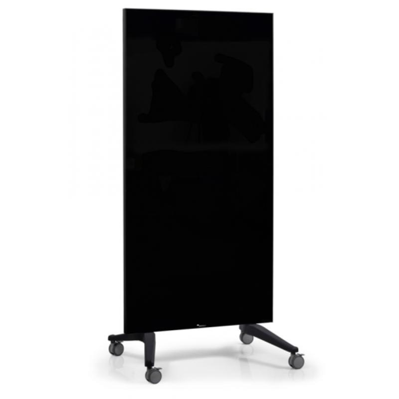 Πίνακες μαρκαδόρου - Πίνακας Τροχήλατος Legamaster Glassboard 90x175cm Black 105200 Πίνακες Μαγνητικοί Γυάλινοι (Glassboard)