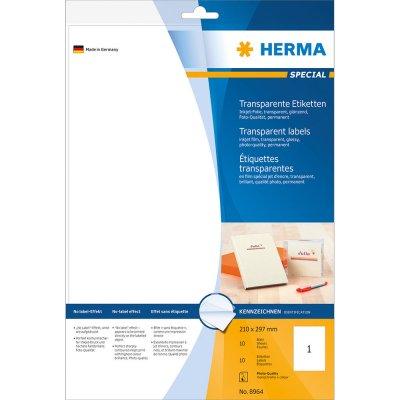 Ετικέττες Inkjet 210Χ297 Transparent 8964 10 Sheets Herma Dimex.gr-Αναλώσιμα Υπολογιστών,Γραφική ύλη,Μηχανές Γραφείου