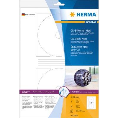 Ετικέττες Inkjet CD-R Glossy 8885 10 Sheets Herma Dimex.gr-Αναλώσιμα Υπολογιστών,Γραφική ύλη,Μηχανές Γραφείου