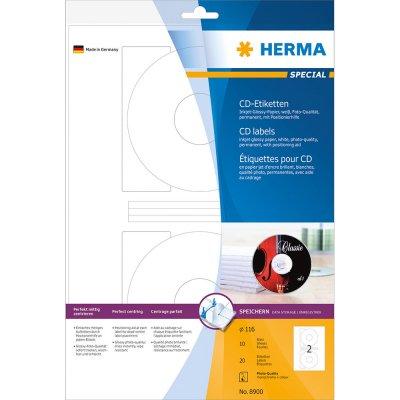 Ετικέττες Inkjet CD-R Glossy 8900 10 Sheets Herma Dimex.gr-Αναλώσιμα Υπολογιστών,Γραφική ύλη,Μηχανές Γραφείου