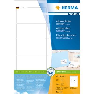 Ετικέττες Premium 96Χ50,8 4667 100 Sheets Herma Dimex.gr-Αναλώσιμα Υπολογιστών,Γραφική ύλη,Μηχανές Γραφείου