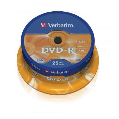 DVD-R Verbatim 16X 120/4.7G Spindle DVD R / DVD RW