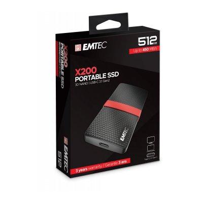 Emtec 512GB External SSD Gen1 X200 USB 3.1 Portable ΣΚΛΗΡΟΙ ΔΙΣΚΟΙ Dimex.gr-Αναλώσιμα Υπολογιστών,Γραφική ύλη,Μηχανές Γραφείου