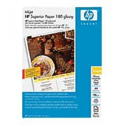 Paper HP Inkjet Glossy A4 180gr C6818A 50 Sheets HP