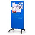 Πίνακες μαρκαδόρου - Πίνακας Τροχήλατος Legamaster Glassboard 90x175cm Blue 105300 Πίνακες Μαγνητικοί Γυάλινοι (Glassboard)