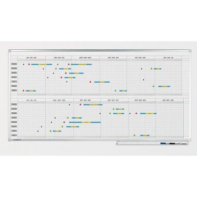 Πίνακες μαρκαδόρου - Πλανόγραμμα Legamaster Professional Ετήσιο ανά 6μηνα 100x200cm 405500 Πίνακες Πλανογράμματα