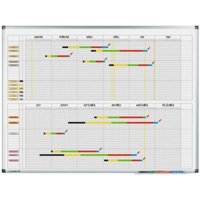 Πίνακες μαρκαδόρου - Πλανόγραμμα Legamaster Premium Ετήσιο ανά 6μηνα 60x90cm 415000 Πίνακες Πλανογράμματα