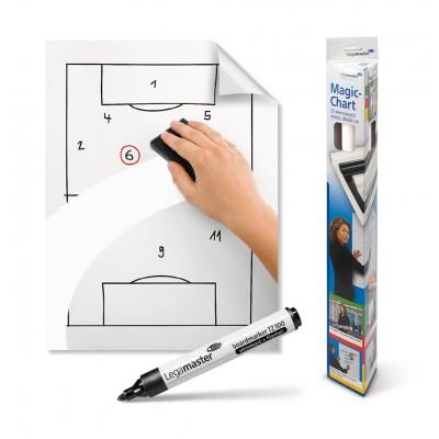 Magic-Chart Film Legamaster White 60x80cm 25 Sheets 159100 Magic-Chart (Πατέντα Στατικού Ηλεκτρισμού)