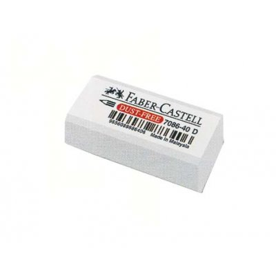 Γόμα Faber Castell 7086-40 White Small Γόμες & Ξύστρες
