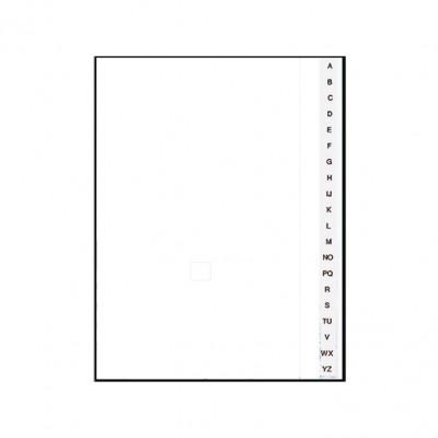 Διαχωριστικά Πλαστικά Α-Ζ Α4 (Λατινικά) ΔΙΑΧΩΡΙΣΤΙΚΑ