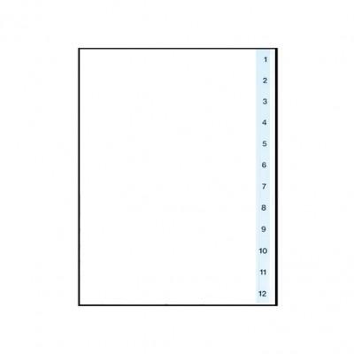 Διαχωριστικά Πλαστικά 1-12 Α4 (Αριθμητικά) ΔΙΑΧΩΡΙΣΤΙΚΑ