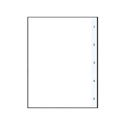 Διαχωριστικά Πλαστικά 1-5 Α4 (Αριθμητικά) ΔΙΑΧΩΡΙΣΤΙΚΑ