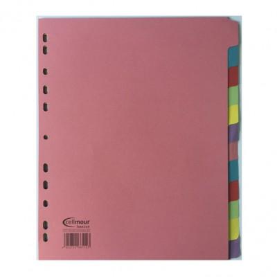 Διαχωριστικά Χάρτινα 10 Θεμάτων Α4 (Χρωματιστά) ΔΙΑΧΩΡΙΣΤΙΚΑ