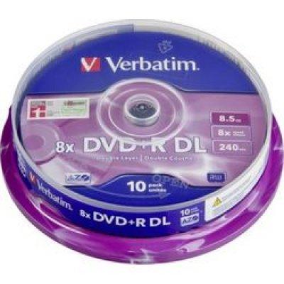 DVD+R Verbatim 8X 8.5GB DLayer Spindle 10TEM. DVD R / DVD RW